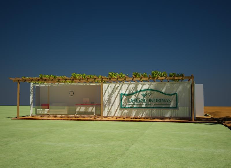 Oficina con Container, diseño interior y exterior con verdes. (Casas ...