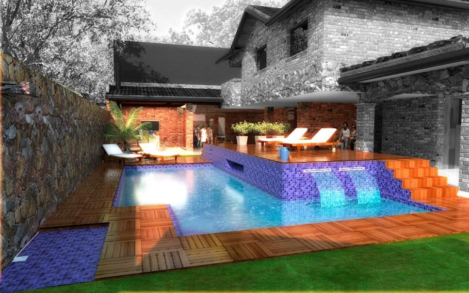Reforma de vivienda reciclaje de piscina en cava mas for Software diseno piscinas