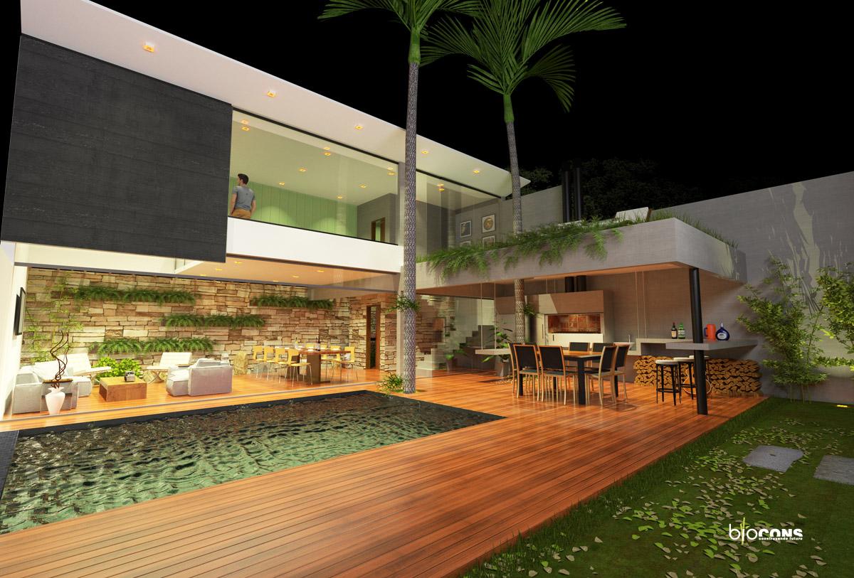Reforma y ampliaci n de quincho para show room en vivienda for Fotos de patios con piletas