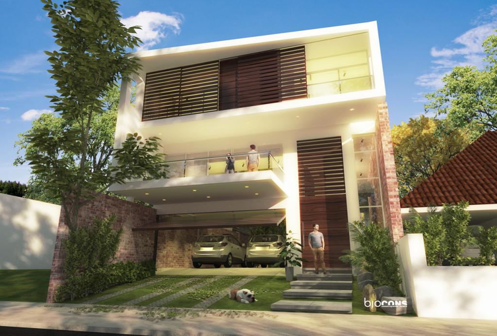 Vivienda unifamiliar 1 pliegue y 2 muros for Vivienda unifamiliar arquitectura