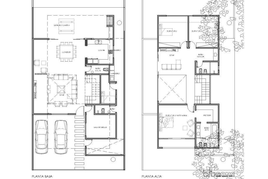 planta arquitectonica vivienda ao